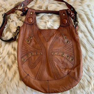 Betsy Johnson leather boho purse